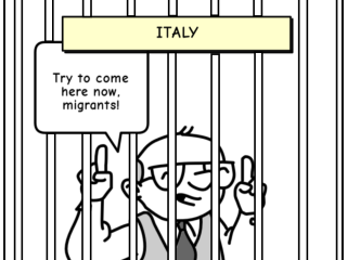 italy italics comic strip