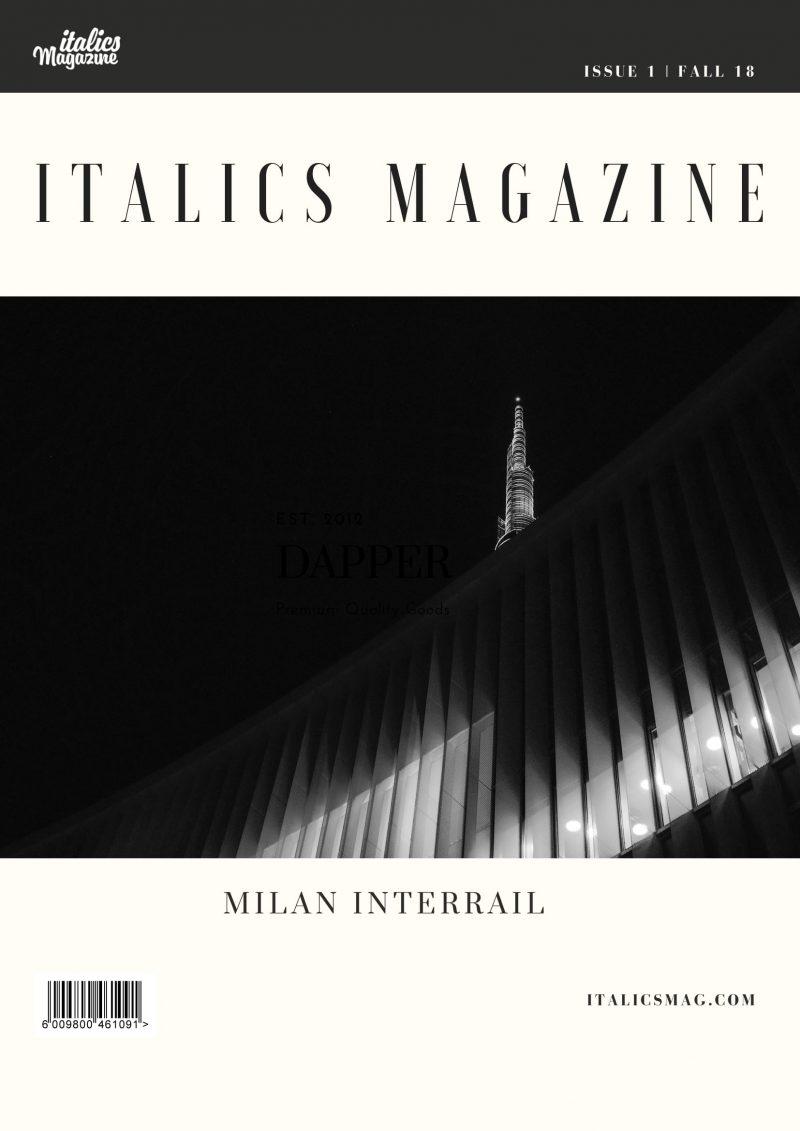 italics magazine issue 1 milan