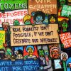 Immigration System - picture of the humanity wall, in Ghent,