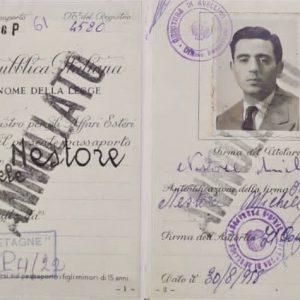 Argentina passport of grandfather