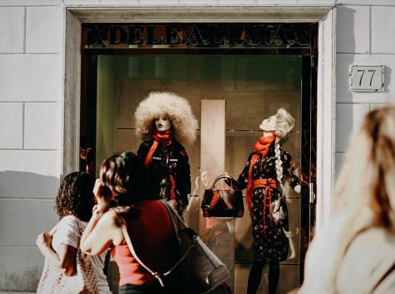 Italian Businesses shop window
