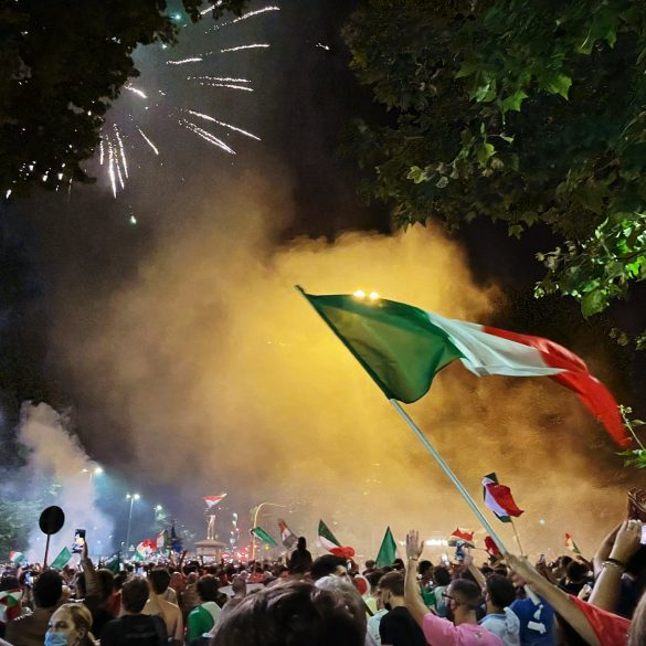 Euro 2020 celebrations in Rome, Italy