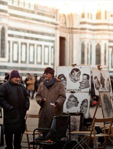 Men speaking Italian language
