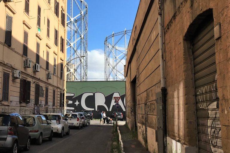 Graffiti in Testaccio: art or crime?