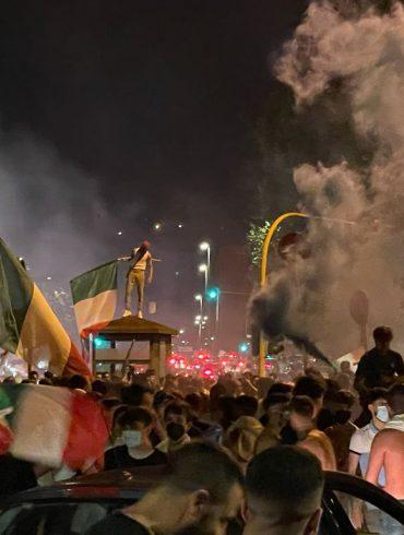2021 Italian Fans Celebrate Euro 2020