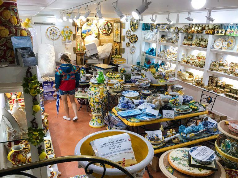 Ceramics shop in Positano